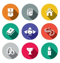 Religion icon collection vector