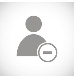 Remove user black icon vector