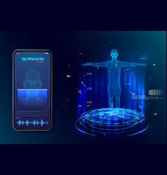 robot artificial intelligence biometric vector image