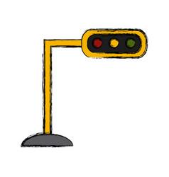 Semaphore traffic lights vector