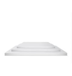 set of beautiful podium on white backgroundthe vector image
