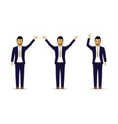 set of three men in suits vector image