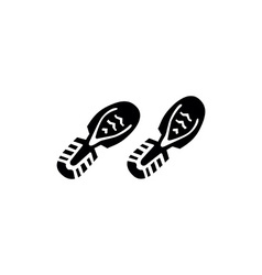 shoes footprints vector image