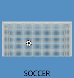 Soccer sport icon flat vector image