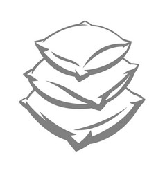Soft pillow stack vector
