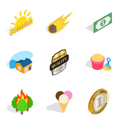 Solar icons set isometric style vector