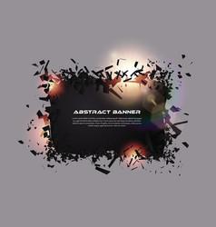 Speech bubble exploding effect abstract vector