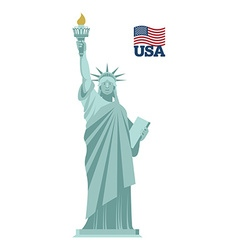 Statue of Liberty in USA National symbol of vector