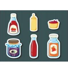 Sticker series of containers vector image