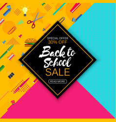 stylish social media and ads web banner sale vector image