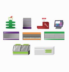 supermarket closeup furniture vector image