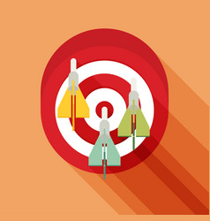 Target concept icon flat icon with long shadow vector