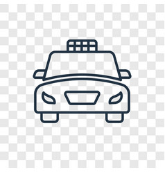taxi fron view concept linear icon isolated on vector image