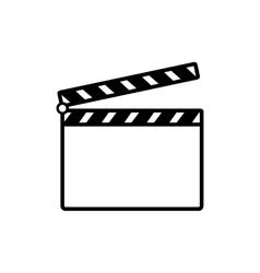The clapper board icon Clapper Board symbol Flat vector