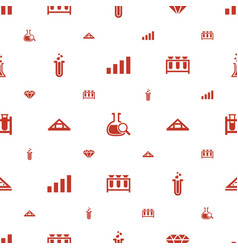 Transparent icons pattern seamless white vector