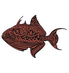 Trigger fish vector