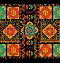 vintage seamless pattern tile of retro floral art vector image