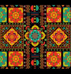vintage seamless pattern tile retro floral art vector image