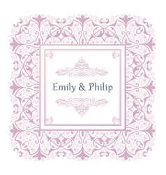 vintage wedding invitation templates line art vector image