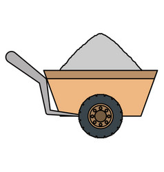 wheelbarrow vector image