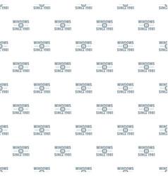 Window pattern seamless vector