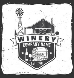 Winery company badge sign or label vector
