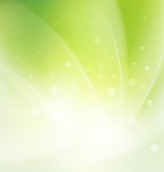 Abstract smooth fresh green flow background vector image vector image