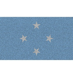 Flags Micronesia on denim texture vector image vector image
