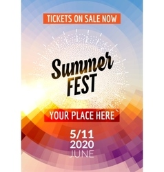 Summer festival flyer design template Summer vector image vector image