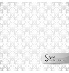 abstract seamless pattern flower mesh white vector image vector image