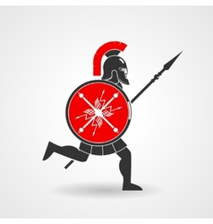 Ancient legionnaire warrior icon vector image