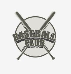 baseball club badge or logo sport team vector image