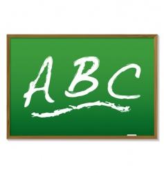 chalkboard abc vector image