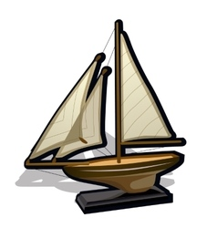 Childrens toy ship on a white background vector image vector image