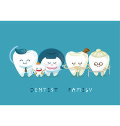 Dental family vector image vector image
