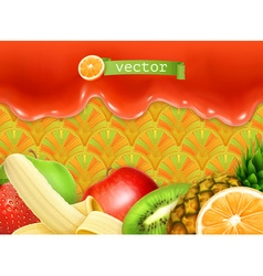 Fruity sweet background vector image vector image
