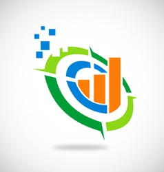 graph business finance logo vector image