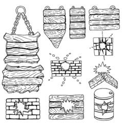 grunge wooden plank vector image