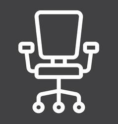 office chair line icon furniture and interior vector image vector image