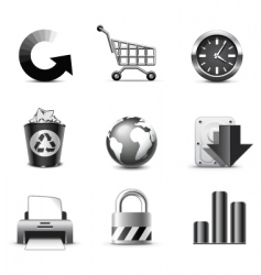 web icons series vector image