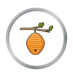 Beehive icon in cartoon style isolated on white vector image vector image