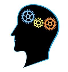 brain activity vector image