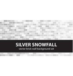 Brick pattern set silver snowfall seamless vector