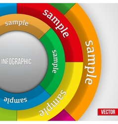 Business Infographics Circle vector image vector image