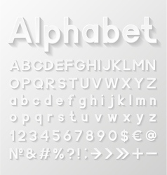 Decorative paper alphabet vector image