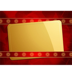 gold gift card vector image vector image