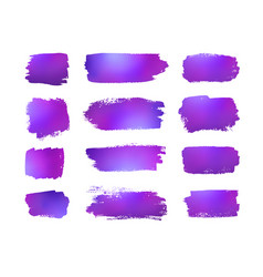 grunge violet banners on white background vector image vector image