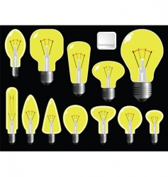 Light bulbs shapes vector