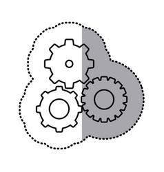 monochrome contour sticker of pinions set vector image