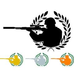 stencil of sniper vector image vector image